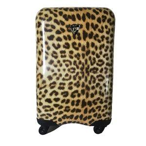Heys Leopard Print Carryon Suitcase